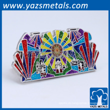 Promotion harte Emaille Glanz Glitter Revers Pins