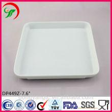 Plato de banquete de porcelana, platos de porcelana, platos de porcelana blanca de uso diario para hotel