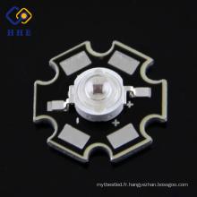 L'IR 3W a mené la diode 1.8V de la puissance élevée LED de 740nm 140 degrés