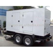 Shangchai 60HZ,1800rmp, 127/220V trailer power generator with worldwide maintain service