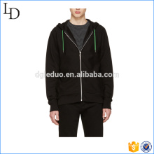 Black with zipper warm and fitting hoodies thick 80% cotton 20 polyester hoodies