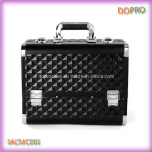 Valise de maquillage de surface de noir d'ABS de cadre en métal de grand volume (SACMC003)