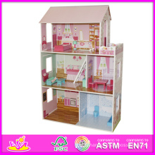 2014 Children Toy, Beartiful Princess Wooden Doll House, Hot Sale Kids Toys, High Quality Children Toys W06A044