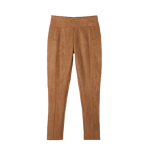 Autumn Winter High Waisted Female Casual Breathable Plain Loose Office Work Pants For Ladies