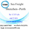 Fret maritime Port de Shenzhen expédition à Perth