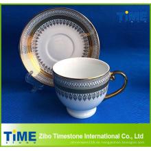 Arabisches goldenes Design-Tee-Schalen-Set