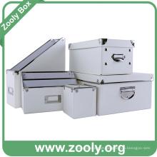 Caixa de armazenamento de escritório clássico branco / desktop organizador caixa