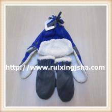 Подросток мочка уха шерсть шляпа и перчатки набор