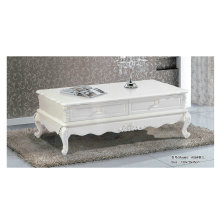 French Style White Wooden Living Room Coffee Table (A06)