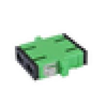 Adaptador SC / APC, adaptador de fibra SM SX, SC-SC singlemode adaptador de fibra óptica simplex