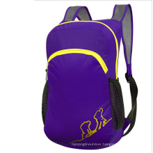 Outdoor Purple Folding Bag, Children′s Backpack