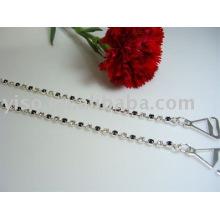Bretelles en strass simples et claires en strass