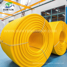 EU Standard PP/PE/Polypropylene/Polyester/Polyamide/Nylon/Plastic/PA Multifilament Combination Compound Steel Wire Rope for Fishing