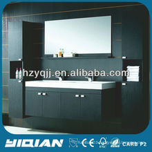 European Design Espresso Finish Modern Style Double Sink Bathroom Vanity