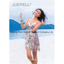 Women Woven Leopard Print Slip Tops