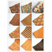 Cork Soft Textile Leather Fabric untuk upholsteri