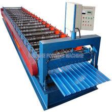 Máquina formadora de folhas de telhado em cor de metal