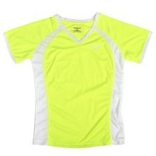 Новая нестандартная женская неон желтая футболка