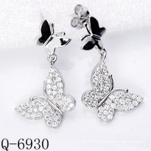 Dernières boucles d'oreilles Styles 925 bijoux en argent (Q-6930)
