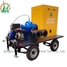 Pompe à irrigation à double aspiration montée à la remorque diesel