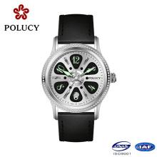 Fashion Men Luxury Wristwatch Genuine Leather Strap Watches for Men