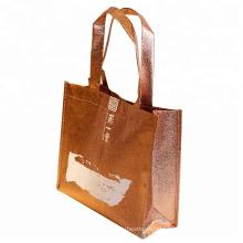 Non-Woven Promotional Carry Bag Custom Logo Metallic Laminated Waterproof Non Woven Shopping Bag