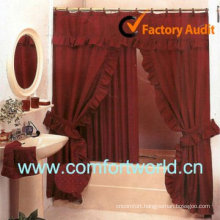 Double Swag Sower Curtain With Valance