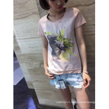 Summer Fashion Flower Printed Short Sleeve T-Shirt Clothes