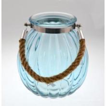 Nouveau bougeoir en verre Designbule avec poignée en fer pour 2016