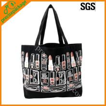 Eco schwarze Baumwoll-Einkaufstasche, Leinentragetasche
