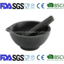 Preseaseond Cast Iron Mortar and Pestle Dia: 13cm China Manufacturer