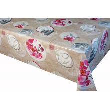 Nappe fleurie brune Nappe 100% Polyester