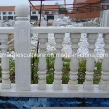 White Carrara Stone Sculpture Stair Balustrade (SY-B008)