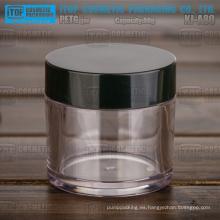 KJ-A80 80g chino venta por mayor buen precio alta calidad alta claro redondo 80g recipiente para cosméticos