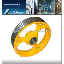 elevator wheel, elevator traction wheel ID.NR.191331, schindler elevator pulley