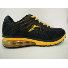 Wholesale Price Black Leather Running Shoes Sneaker