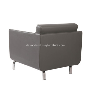 Moderne Gaia High-Arm Leder Lounge Stuhl Replik