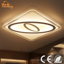 Modern Square Ultra Slim Iluminación interior LED Ceiling Light Crystal