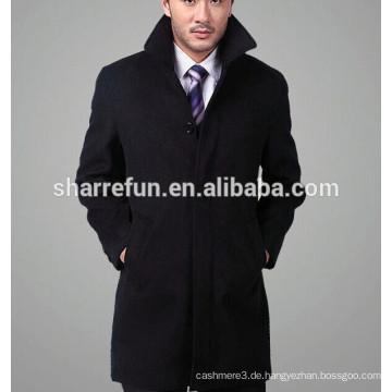 2016 neue mode einreiher business männer wolle kaschmir mantel
