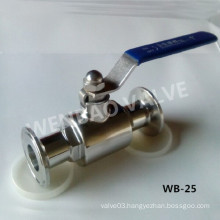 2-Part Full Way Sanitary Ball Valve with Clamp Ends