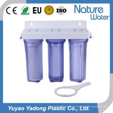 Garrafa de água de 3 estágios com filtro para uso doméstico e em hotéis