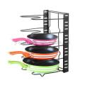 Wholesale creative kitchen ware wok stand Pan rack commodity shelf pot rack