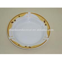 "9""vegetable ceramic soup plate,OEM porcelain deep soup plate with nice design"