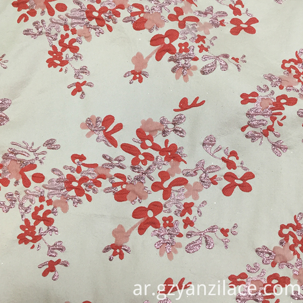 Red Flower Jacquard