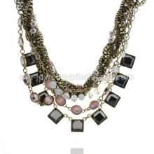 Perla cadena bronce antiguo clásico Popular collar