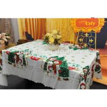 Christmas design printed 300D mini matt fabric for table cloth