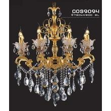 Golden Shape with Crystal Drop Decoration Chandelier (cos9094)