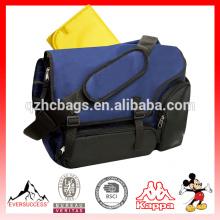 Mens canvas bag waterproof diaper bag with Detachable messenger strap(ES-Z361)