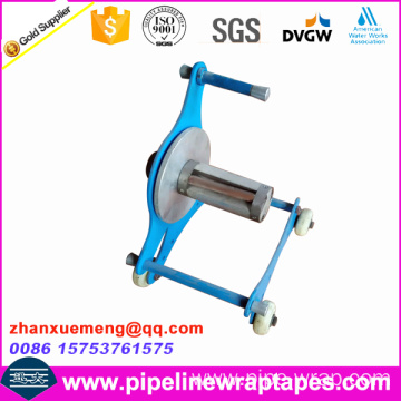 Hand manual pipeline tape wrapping machine