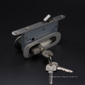 Stainless steel fire rate Sliding door lock set for timber door